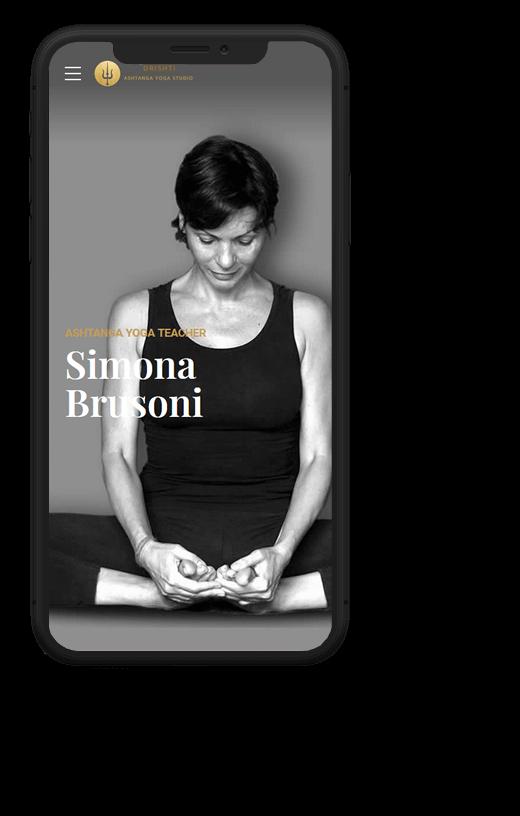 Drishti Ashtanga Yoga: progetto web realizzato da Artdisk, visualizzato da mobile