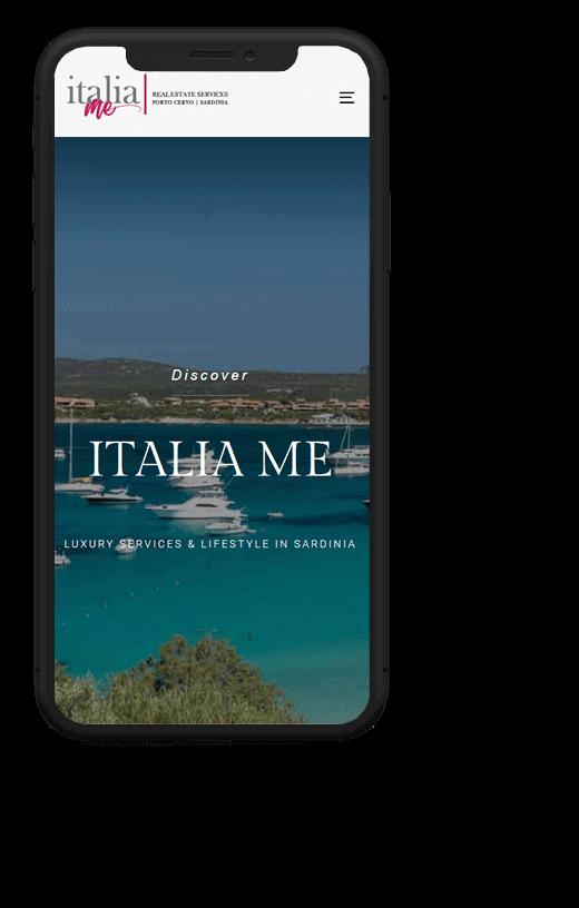 italiaMe: progetto web realizzato da Artdisk, visualizzato da mobile